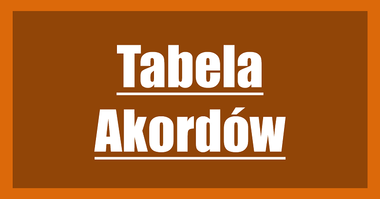 Tabela Akordów