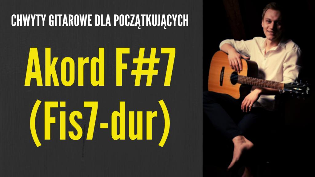 chwyt f#7 gitara