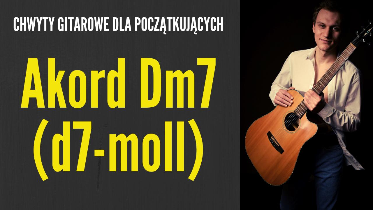 chwyt dm7 gitara