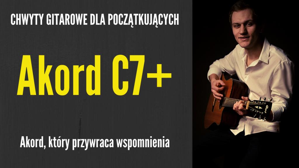 chwyt c7+ gitara
