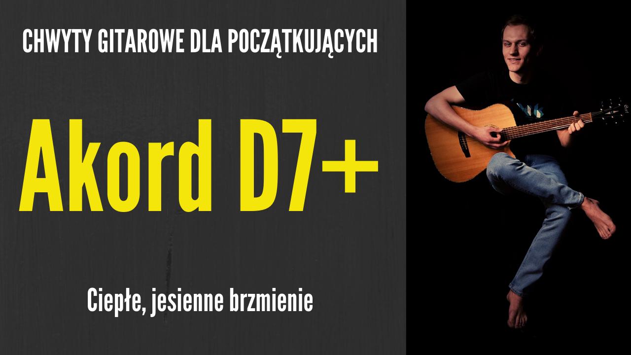 chwyt d7+ gitara