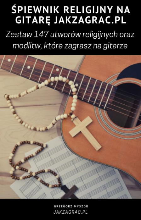 Śpiewnik z piosenkami religijnymi gitara